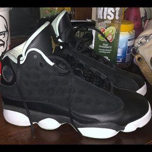 Jordan's 13 black and mint foam
